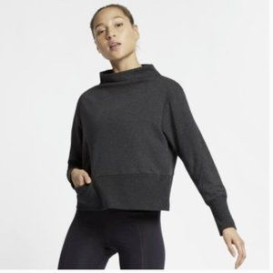 Nike Dri-Fit Studio Mock Neck Sweater Gray XL